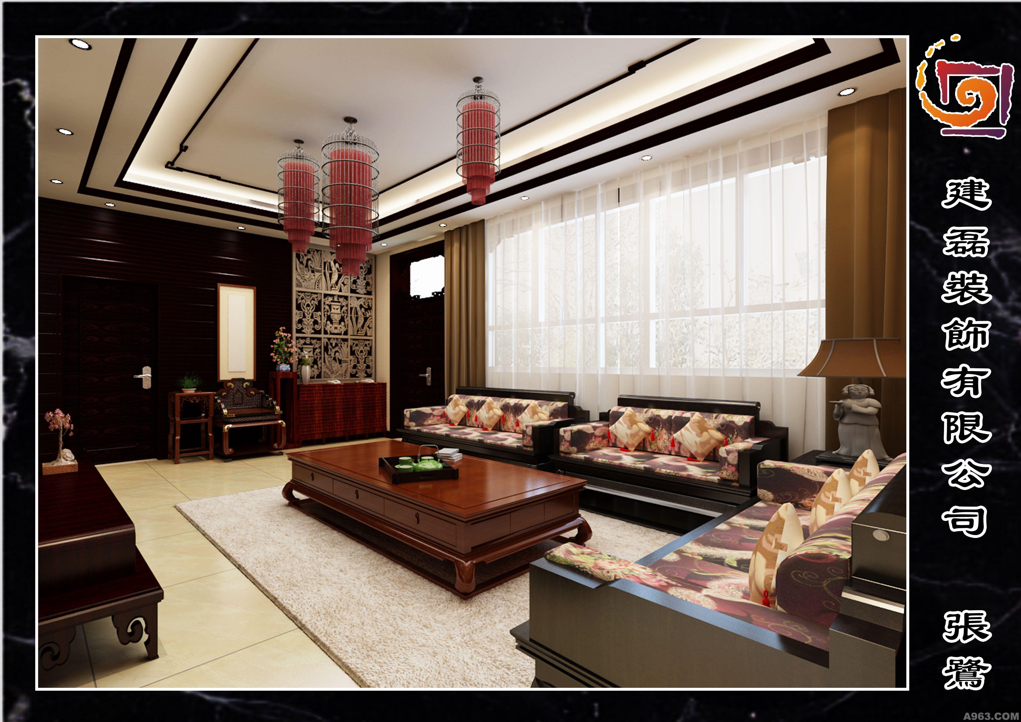 中式二层 - 别墅豪宅 - 中华室内设计网_中华室内设计
