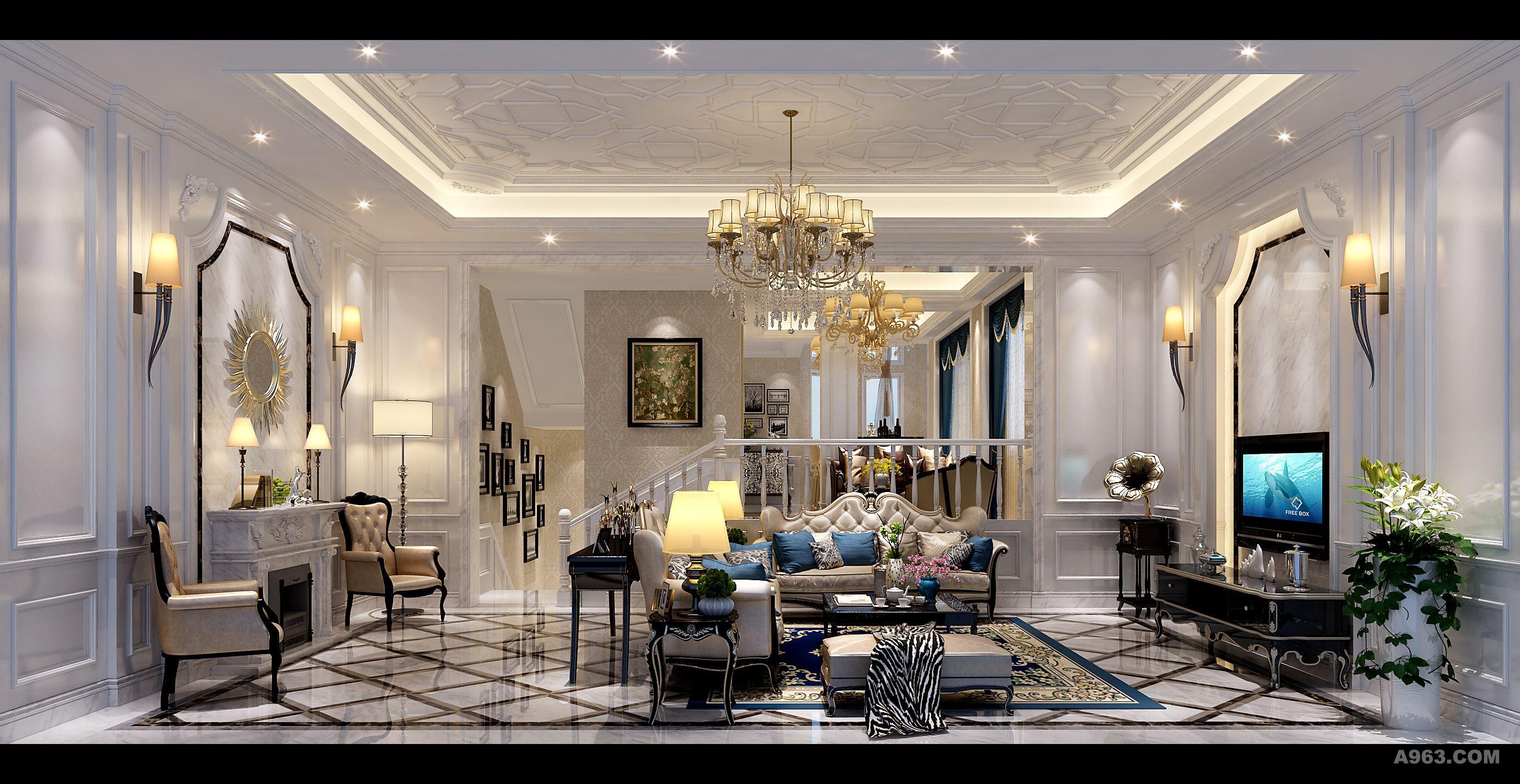 中海国际 法式客厅图片