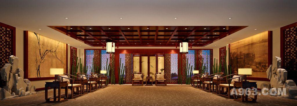中式接待室 中式洽谈室 中式会议室 接待室设计 新中式风格