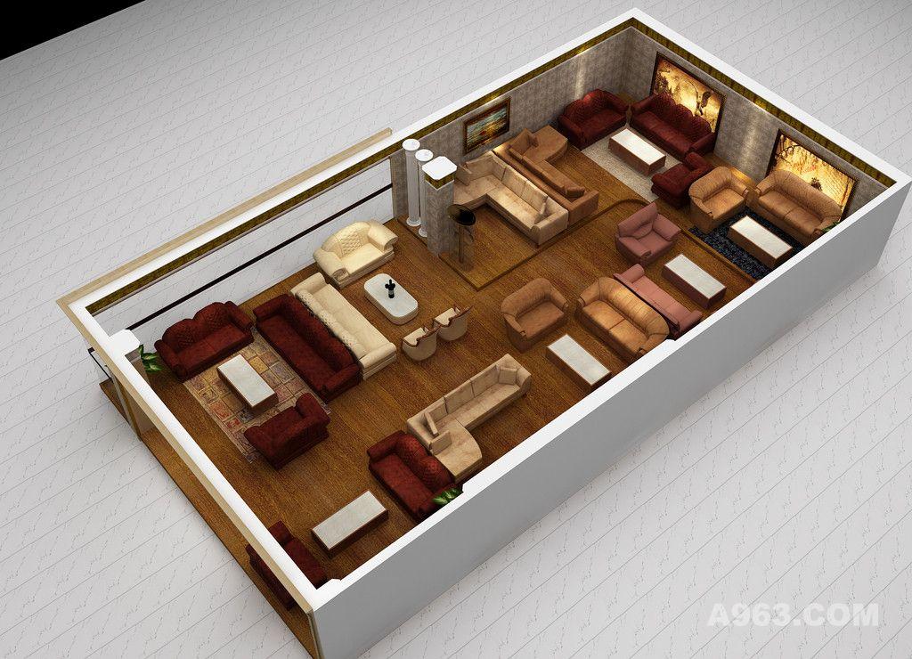 作品类别:展示空间      家具展厅设计案例效果图说明:  家具