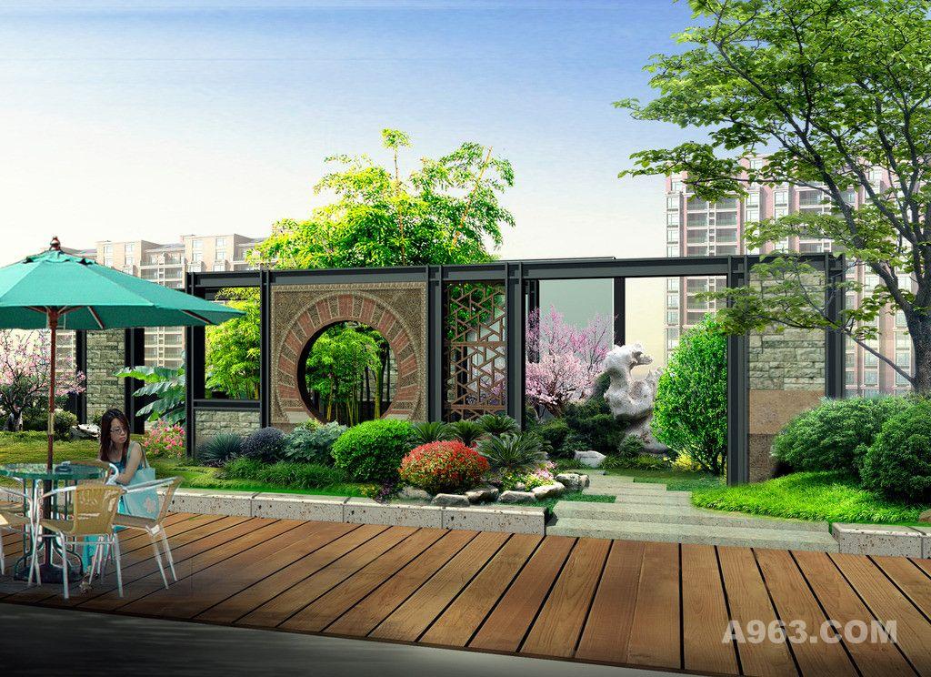 景观效果图 园林效果图 庭院效果图 景观设计 屋顶花园