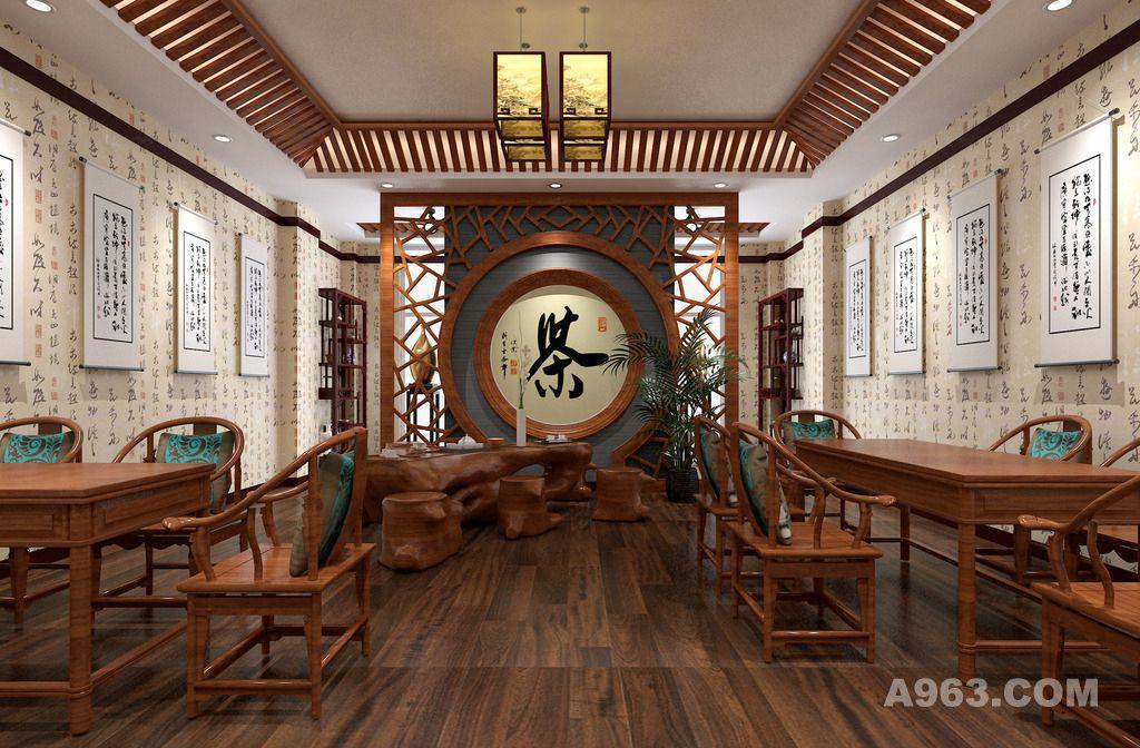 茶室设计案例效果图说明