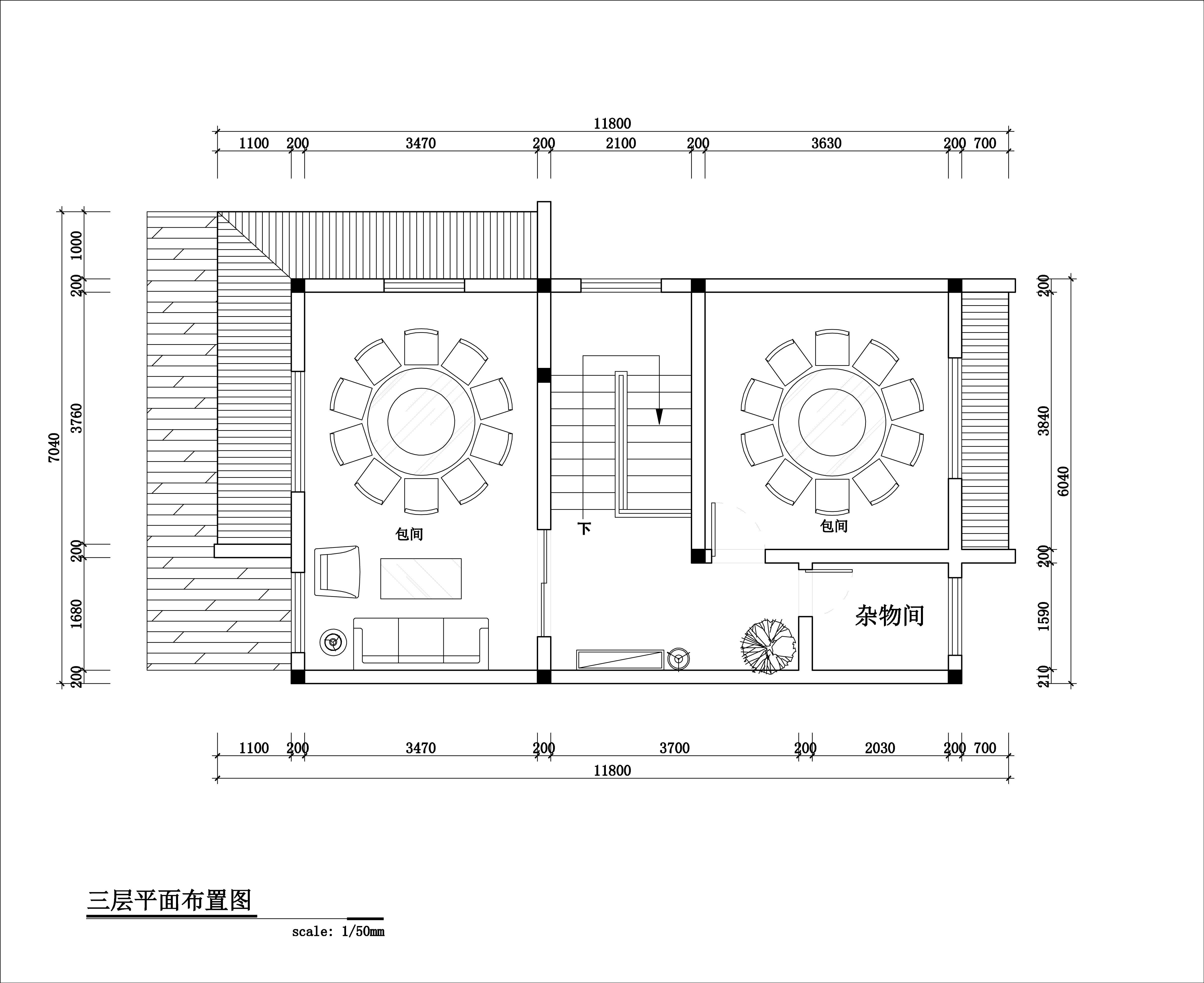 三层平面规划图