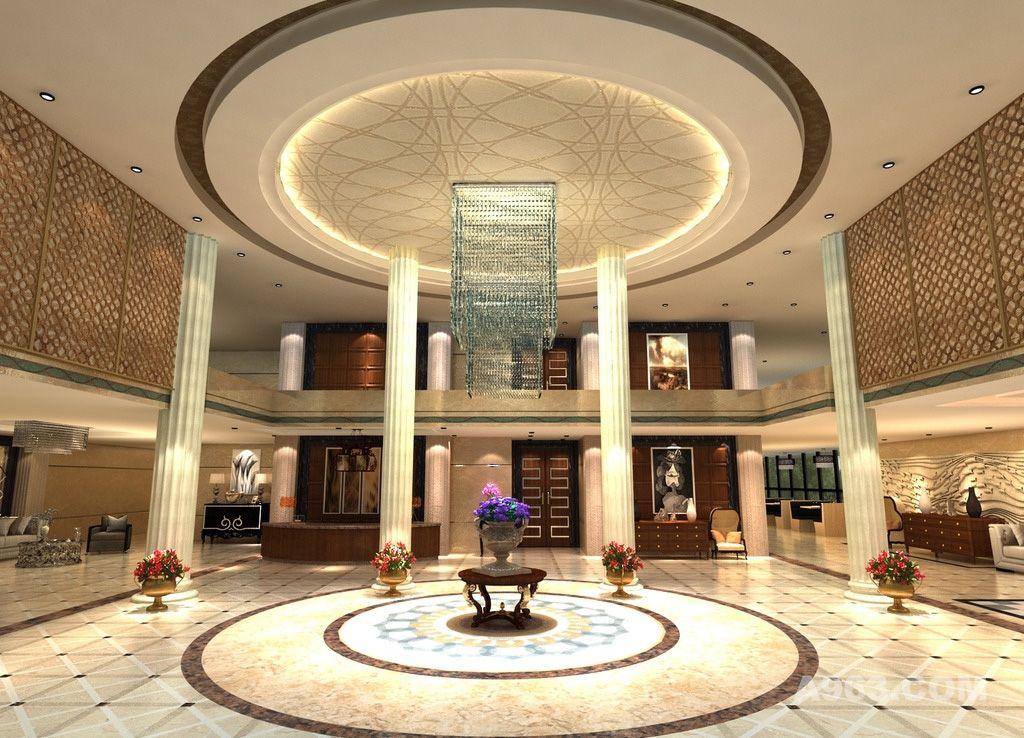 酒店大堂大厅设计案例效果图说明: 欧式酒店大厅 酒店装修 婚礼