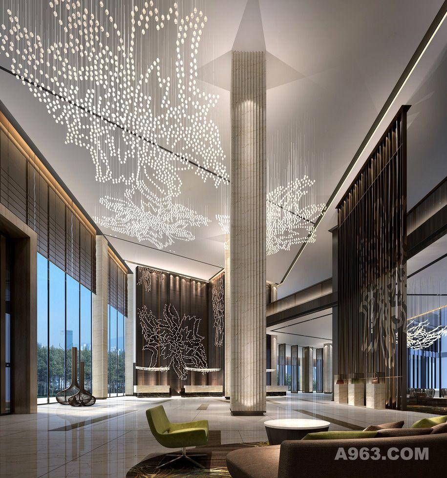 作品类别:酒店设计      酒店大堂大厅设计案例效果图说明: 欧式酒店