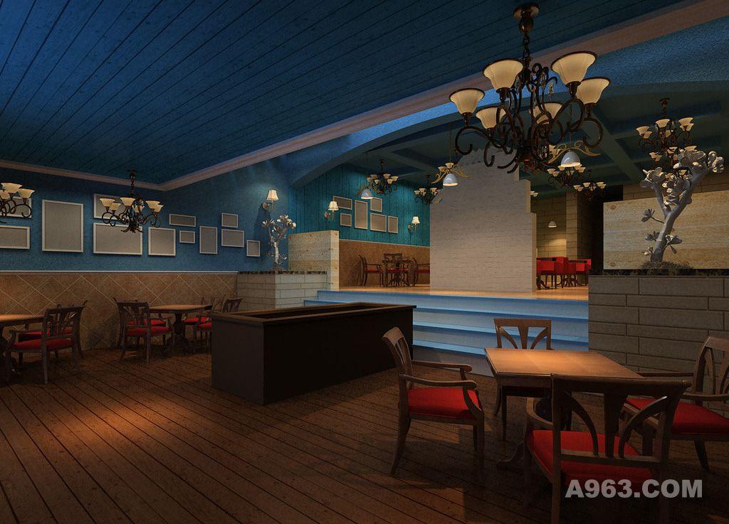 咖啡厅设计案例效果图请输入图片说明